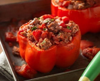BAKED STUFFED BELL PEPPERS RECIPE