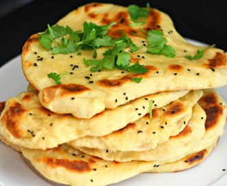 Homemade Garlic Naan Bread.