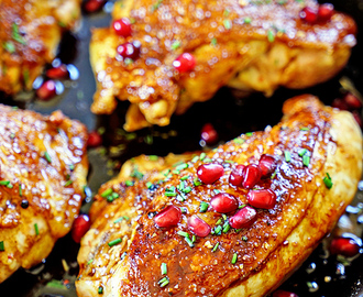 Jordanian Roasted Chicken with Pomegranate Molasses