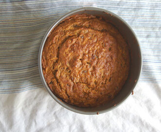 Carrot, banana and date cake