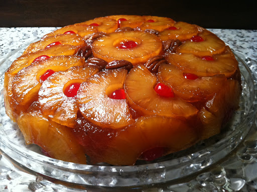 Pineapple Upside Down Cake – cooked in a seasoned iron skillet is Always in Style!