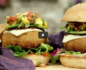 Veg Cheese Burger Recipe Video