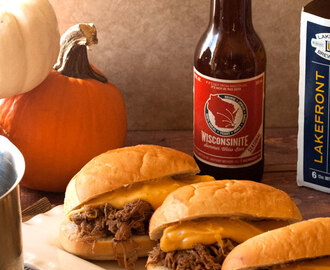 Roast Beef Sliders with Beer and Cheddar Fondue