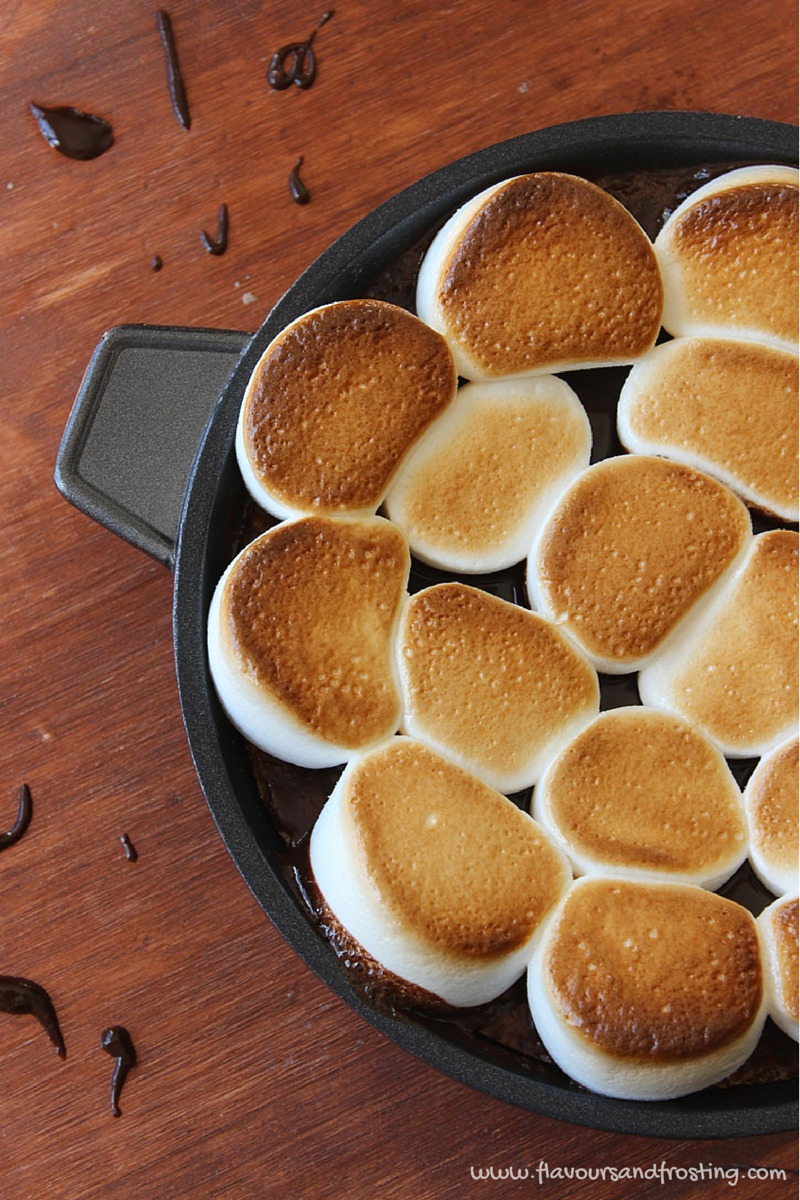 Chocolate Chip Cookie Skillet Smores