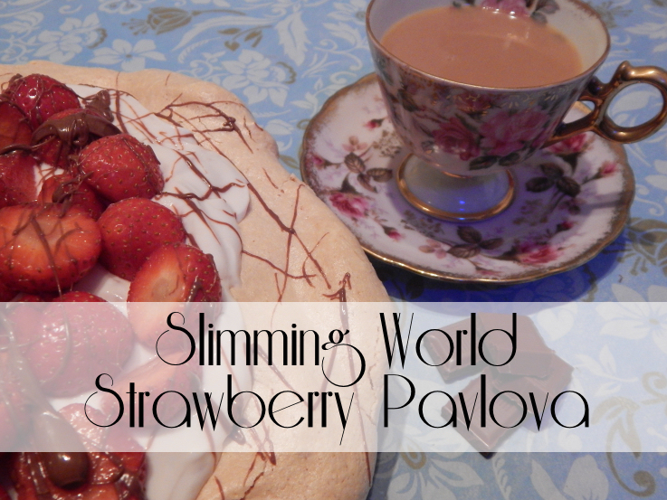 Slimming World Strawberry and Chocolate Pavlova