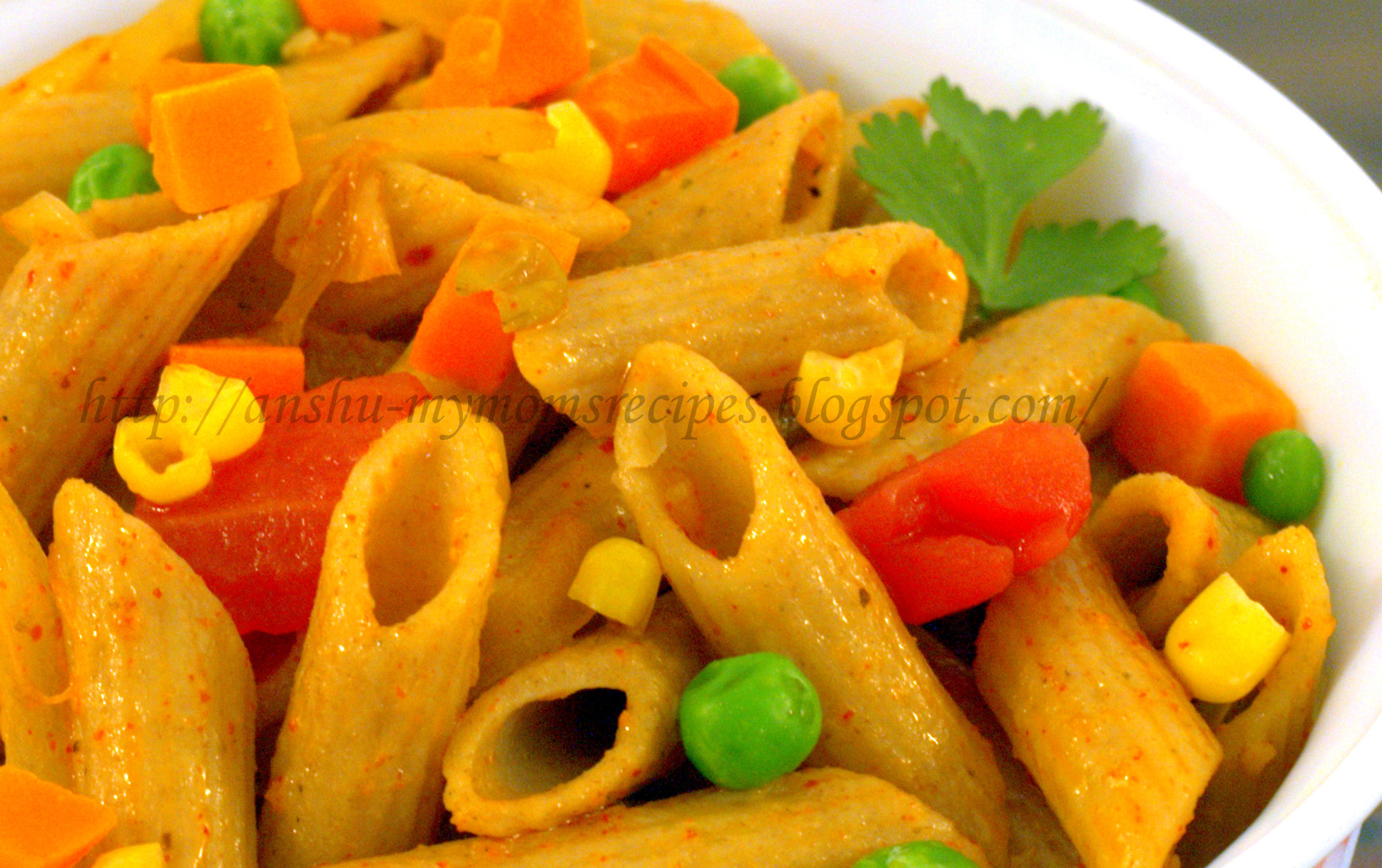 Whole Wheat Penne With Stir-Fry Veggies & Basic White sauce