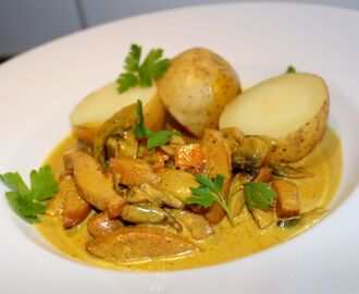 Curry korv stroganoff