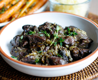 Chicken liver with thyme (GAPS)