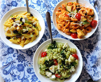 A Trio of Pasta Salads
