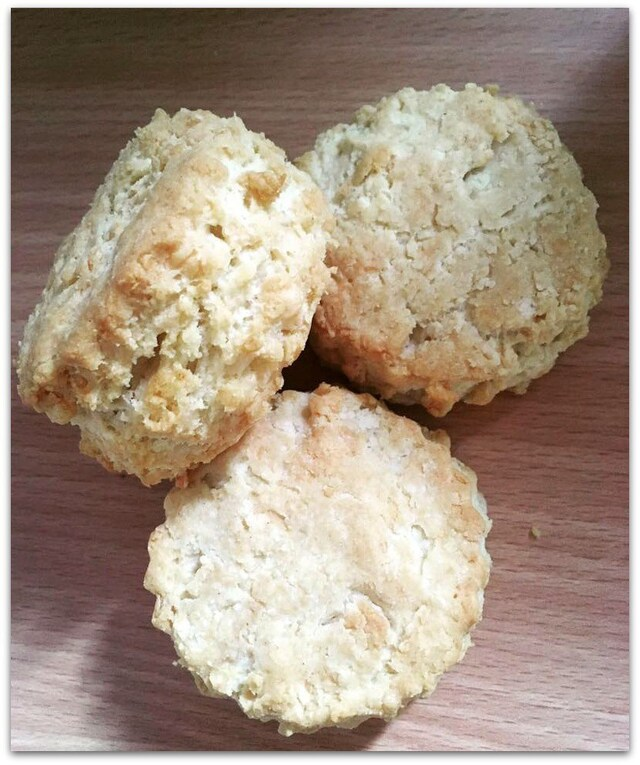 Gluten free cheese scones.
