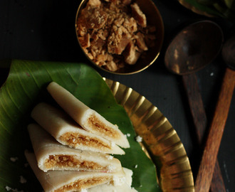 Ela Ada Recipe | Steamed Sweet Rice Flour Cakes in Banana Leaves