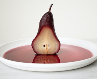Red Wine Poached Pear Dessert