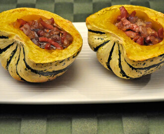 Stuffed Sweet Dumpling Squash; fall colors