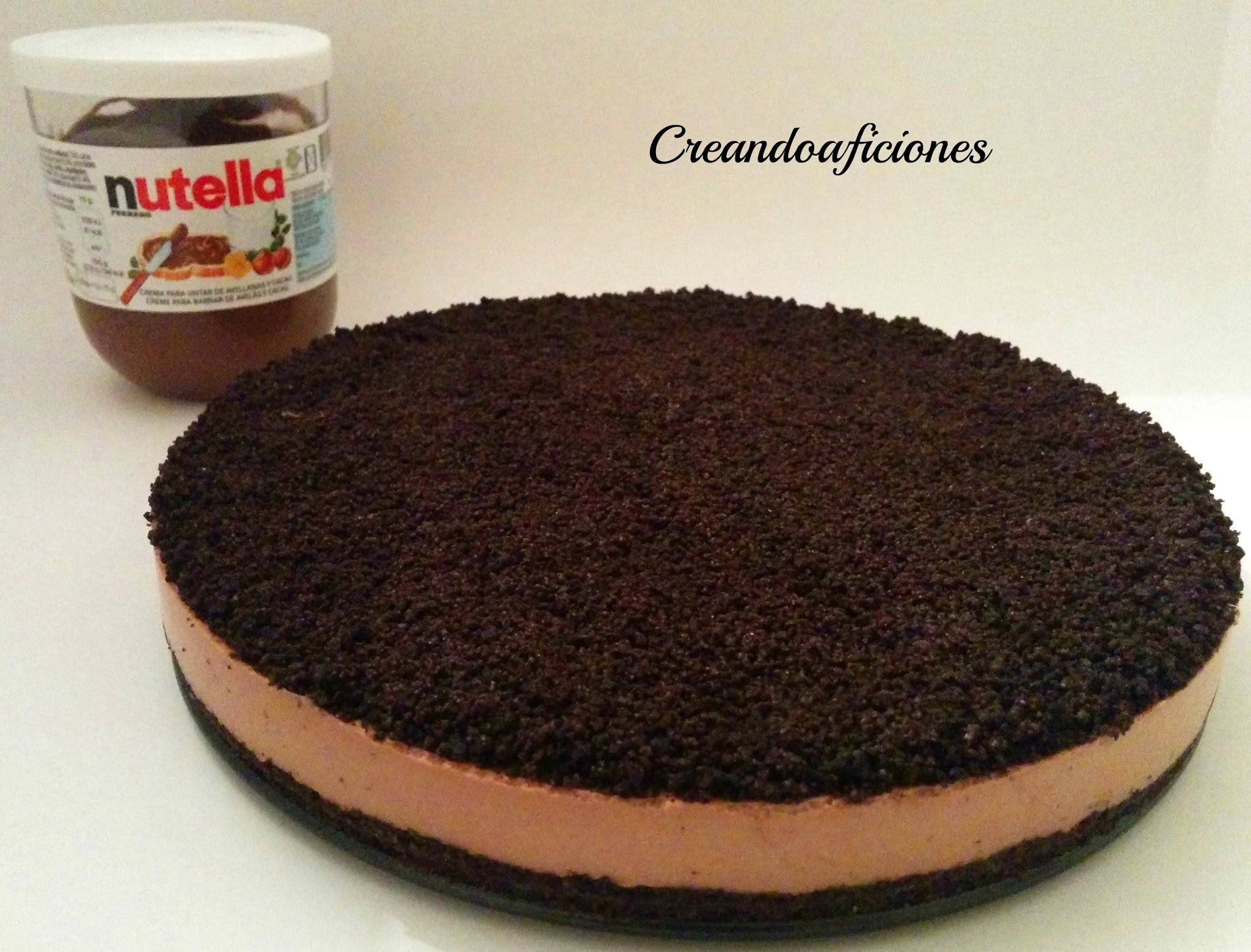 Tarta de Nutella y galletas Oreo