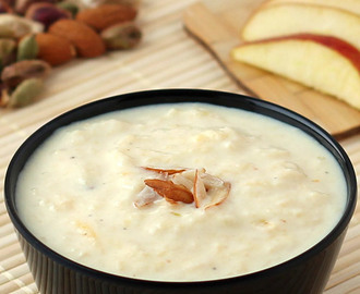 Apple Kheer Recipe  (with Step by Step Photos)