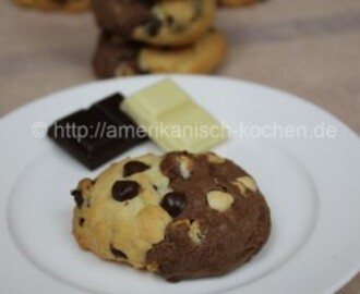 Chocolate Chip Cookies mit doppelt Schokolade/Double Chocolate Chip Cookies