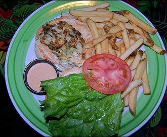 Rainforest Cafe Cyclone Crab Cake Sandwich