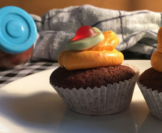 Baking with the Kids: Chocolate Orange Halloween Cupcakes
