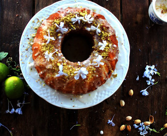 Lemon Lime pistachio bundt cake #BundtBakers