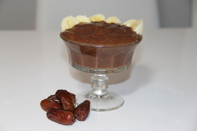 Datlový chia puding