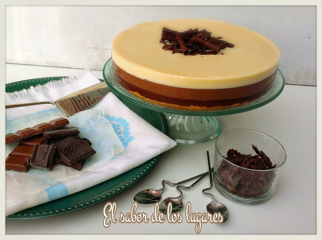 TARTA TRES CHOCOLATES (thermomix).