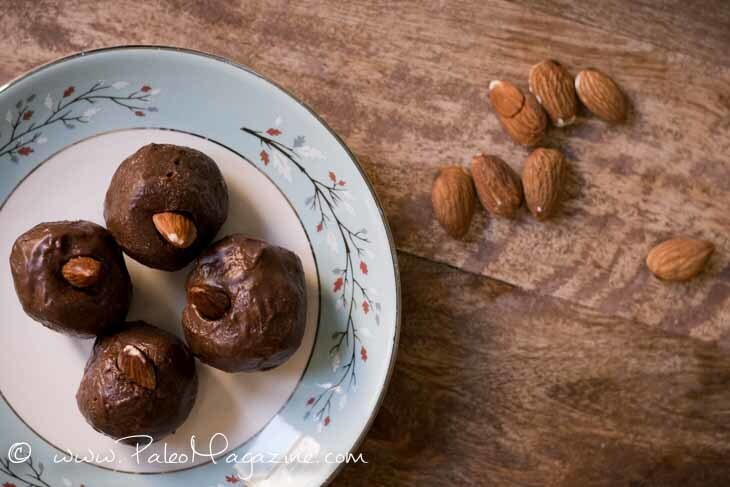 Chocolate Almond Keto Fat Bomb Recipe [Paleo, Low Carb, Dairy-Free]