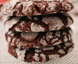 Comenzamos con la temporada de galletas. Chocolate Crinkle  Cookies