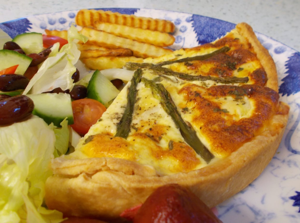 Smoked Haddock & Asparagus Quiche - mellow deliciousness.