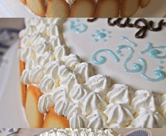 Torta di Compleanno alle due Creme Chantilly