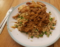 mushy pea curry sauce with egg fried rice homemade