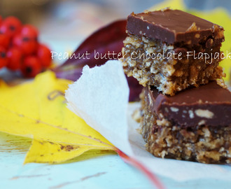Peanut butter Chocolate Flapjacks