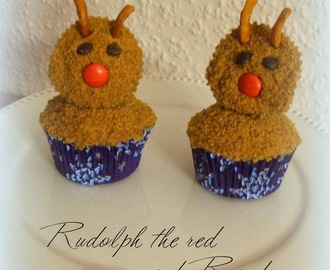 Spekulatius Cupcakes (Rudolph the red nosed Reindeer)