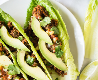 Heat-Free Lentil and Walnut Tacos from Choosing Raw