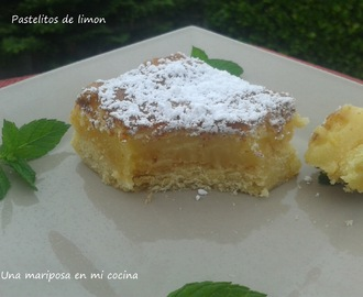 Pastelitos de limon o lemon bars