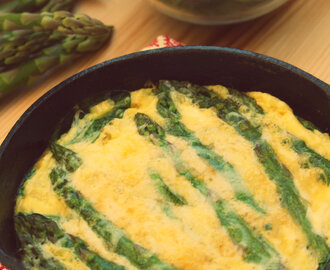 Baked Spinach and Asparagus Omelette
