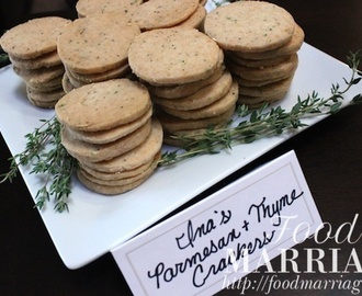 Homemade Parmesan & Thyme Crackers