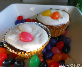 Carrot Cake Cupcakes with Maple Cream Cheese Frosting