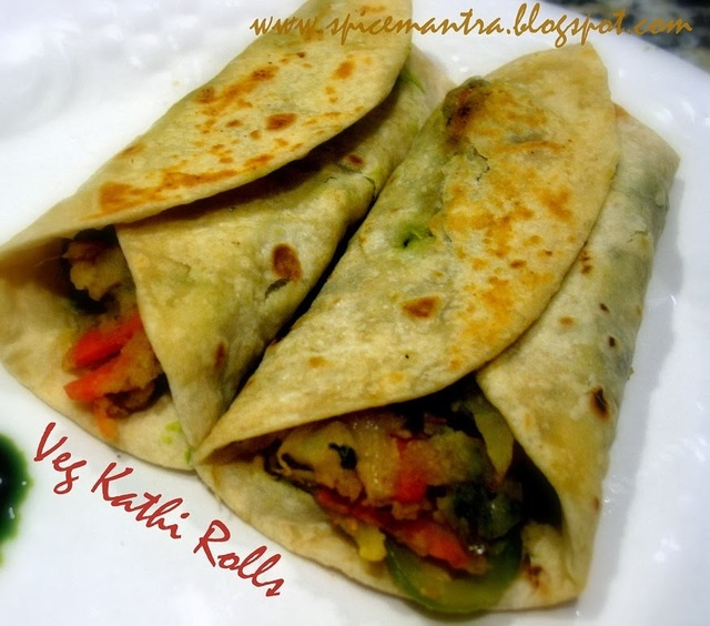 Veg Kathi \ Kati Roll \  Veg Frankie and an inspirational INKtalk by an young entrepreneur