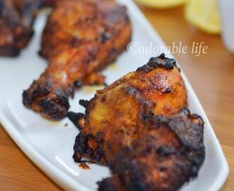 Homemade Indian Tandoori Chicken-on stove top BBQ grill pan
