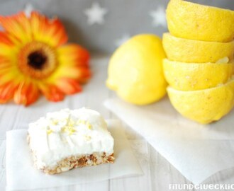 {Clean Eating} Raw Lemon Cheesecake Bars