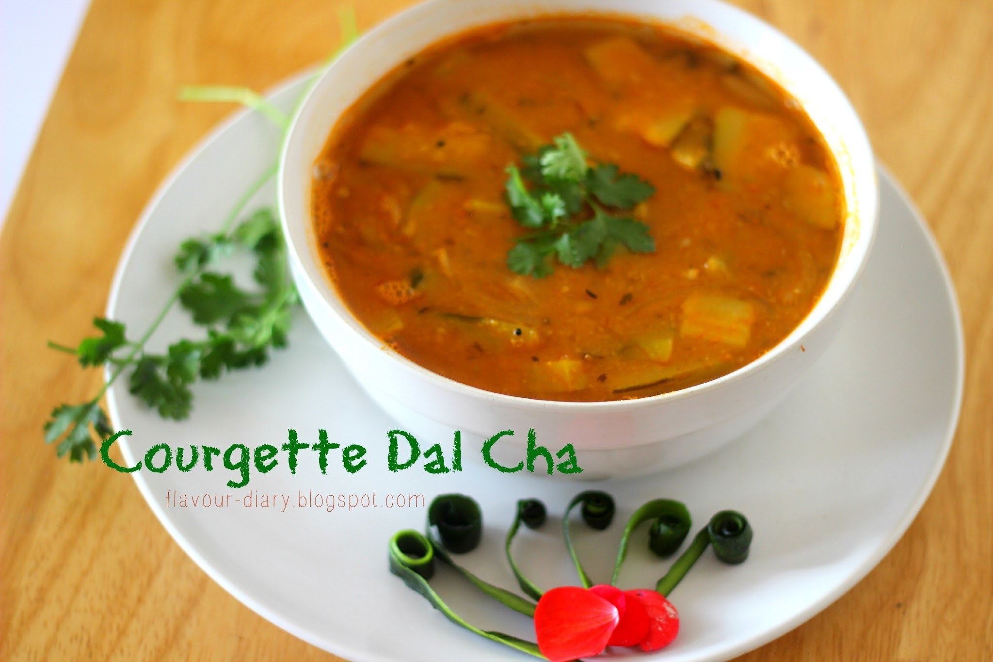 Courgette Dal Cha / Courgette Lentils Tangy Curry