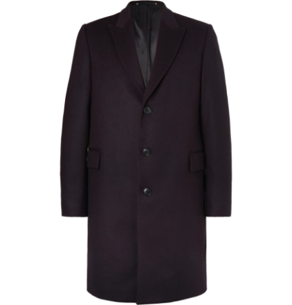Wool And Cashmere-blend Coat - Navy