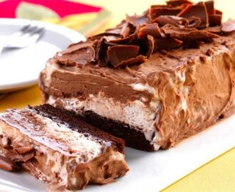 Gelado de Brownie e Sorvete