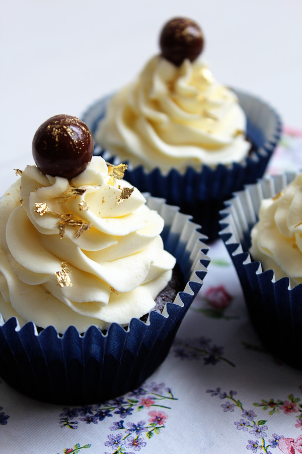 Schoko Cupcakes mit Guinness und Whisky Frosting