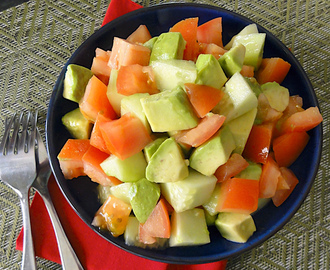 Tomato, Avocado and Cucumber Summer Salad – #SundaySupper