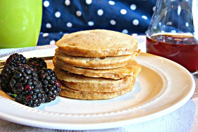 Almond Butter Banana Pancakes (Toddler Friendly)