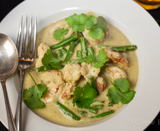 A recipe for Thai Green Prawn Curry that shoudn't jar with you.