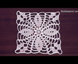 Crochet flower motif tutorial Crochet lace motif patterns free