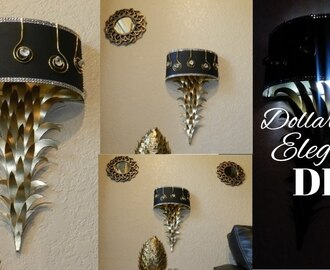 DIY Glam Wall Sconces| DIY Elegant Lighted Home Decor| DIY Elegant Dollar Tree Wall Lamps