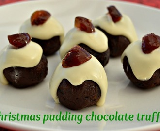 Christmas pudding chocolate truffles #recipe